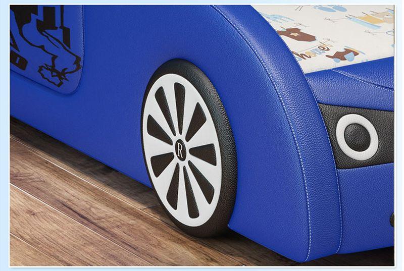 Giường trẻ em ô tô thể thao có ngăn gấp chứa đồ GTE036 màu xanh da trời 3