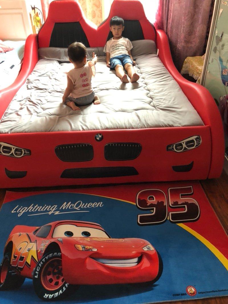 Giường ô tô cho bé trai đẹp nhập khẩu GTE079 màu đỏ 8