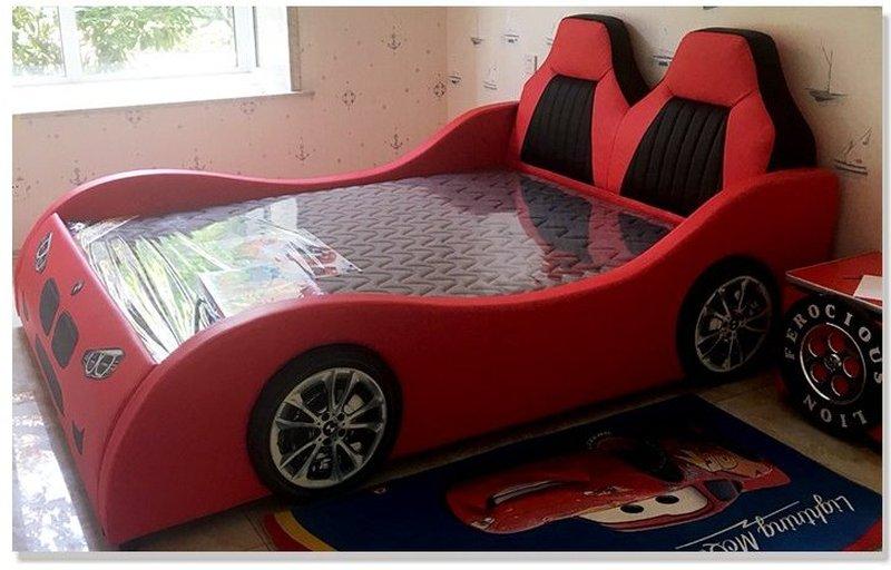Giường ô tô cho bé trai đẹp nhập khẩu GTE079 màu đỏ 9