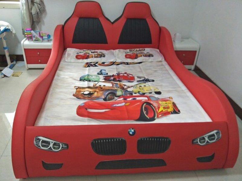 Giường ô tô cho bé trai đẹp nhập khẩu GTE079 màu đỏ 13
