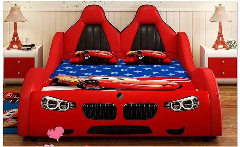 Giường ô tô cho bé trai đẹp nhập khẩu GTE079 màu đỏ 2