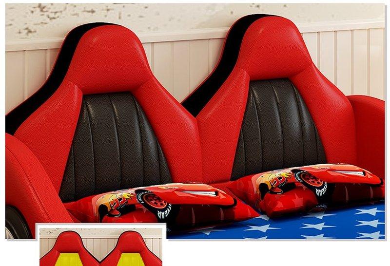 Giường ô tô cho bé trai đẹp nhập khẩu GTE079 màu đỏ 4