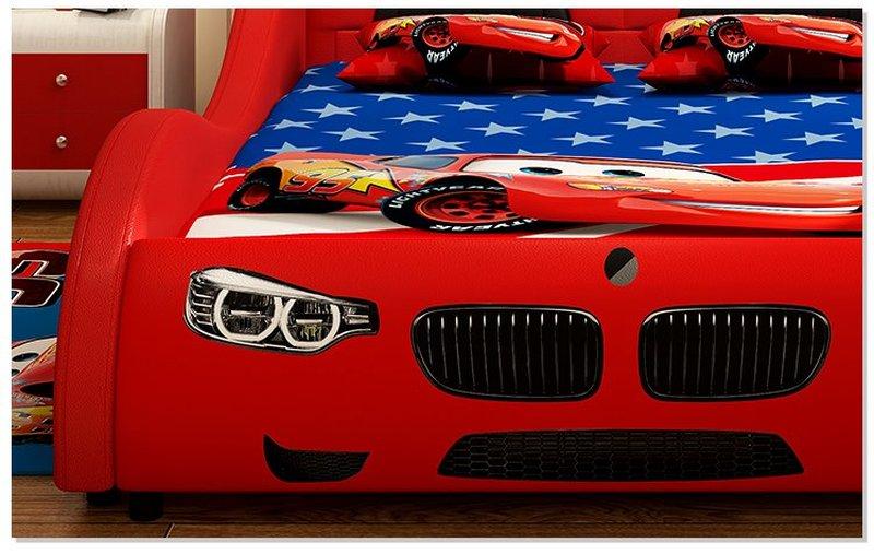 Giường ô tô cho bé trai đẹp nhập khẩu GTE079 màu đỏ 5