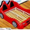Giường ô tô cho bé trai đẹp nhập khẩu GTE079 màu đỏ 6