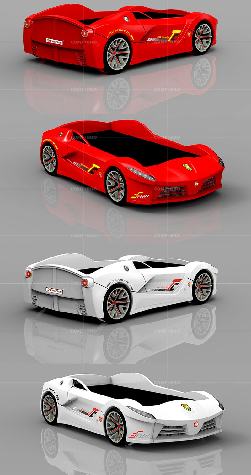 Giường ô tô xe đua 3D dành cho bé trai GTE078 5
