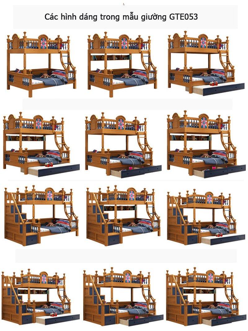 Giường tầng cao cấp trẻ em GTE053 2