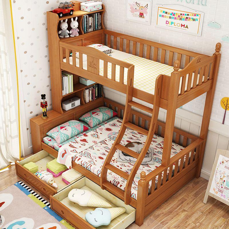 Giường tầng cho bé gỗ sồi đẹp GTE050 3