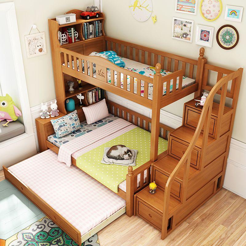 Giường tầng cho bé gỗ sồi đẹp GTE050 4