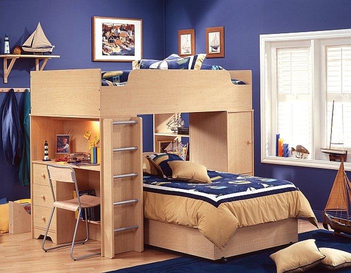 Giường 2 tầng đa năng có bàn học và giường ngủ