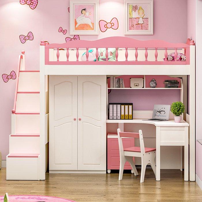 Giường tầng kết hợp tủ quần áo đẹp