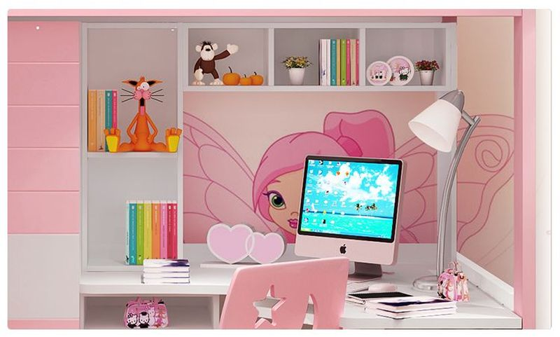 Giường tầng đa năng thông minh có tủ quần áo + bàn học GTE054 5