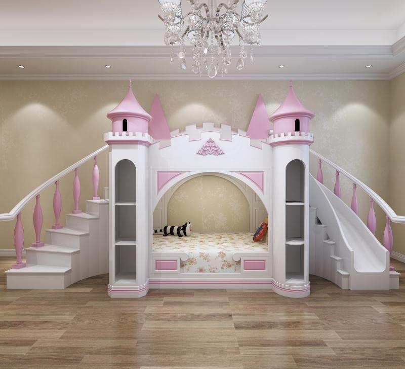 Giường cho bé gái kiểu lâu đài xinh xắn GTE057 1