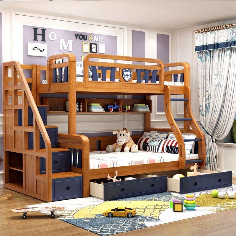 Giường 2 tầng trẻ em thông minh đẹp GTE051