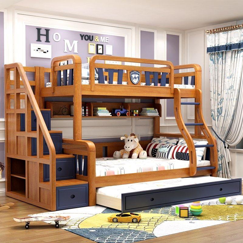 Giường 2 tầng trẻ em thông minh đẹp GTE051 2