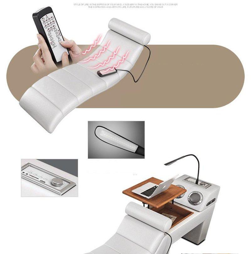 Ghế massage thư giãn bằng điều khiển đa tính năng, bàn để laptop