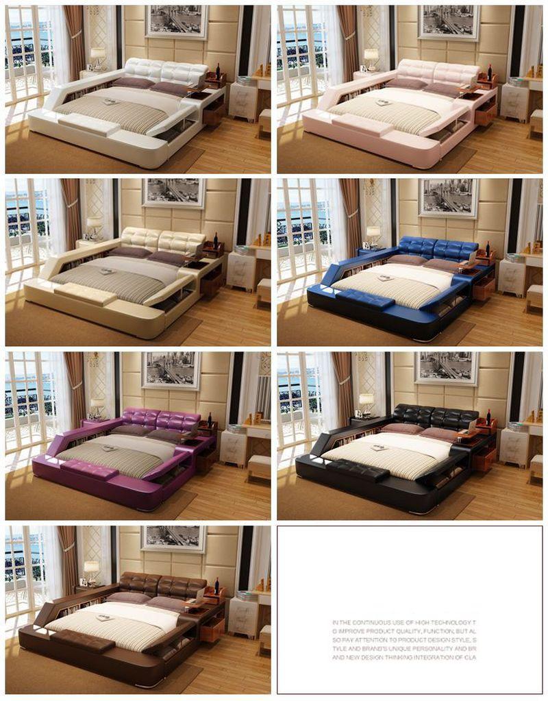 Giường tatami kiểu nhật hiện đại sang trọng đa năng GN001 5