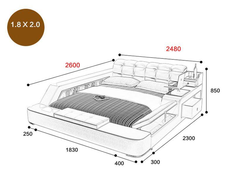 Giường tatami kiểu nhật hiện đại sang trọng đa năng GN001 6