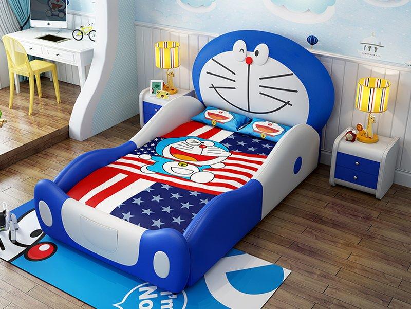 Giường trẻ em kiểu hoạt hình Doremon dễ thương GTE064 1