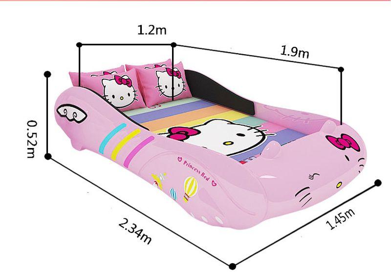 Giường trẻ em ô tô thể thao hello kitty cho bé gái GTE067 3