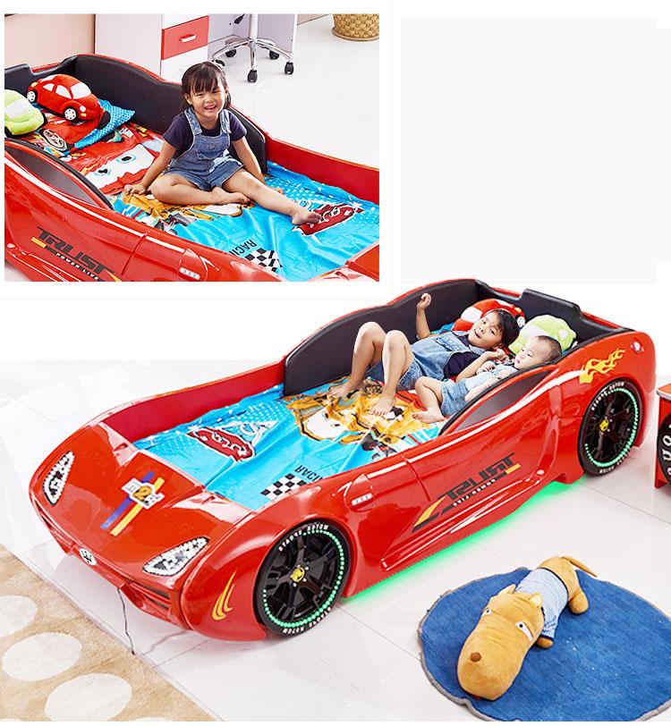 Giường ô tô thể thao 3D T400 Maserati + đèn led + âm nhạc GTE065 màu đỏ 2