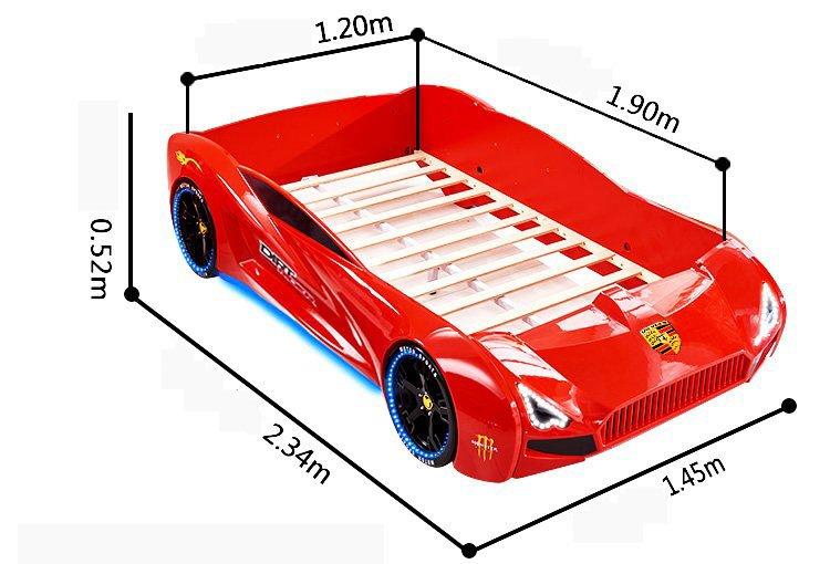 Kích cỡ 1m2 x 1m9 giường thể thao cho bé GTE065