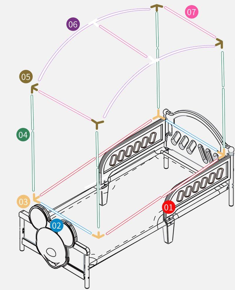 Cách lắp màn khung cho bé mã MNTE040