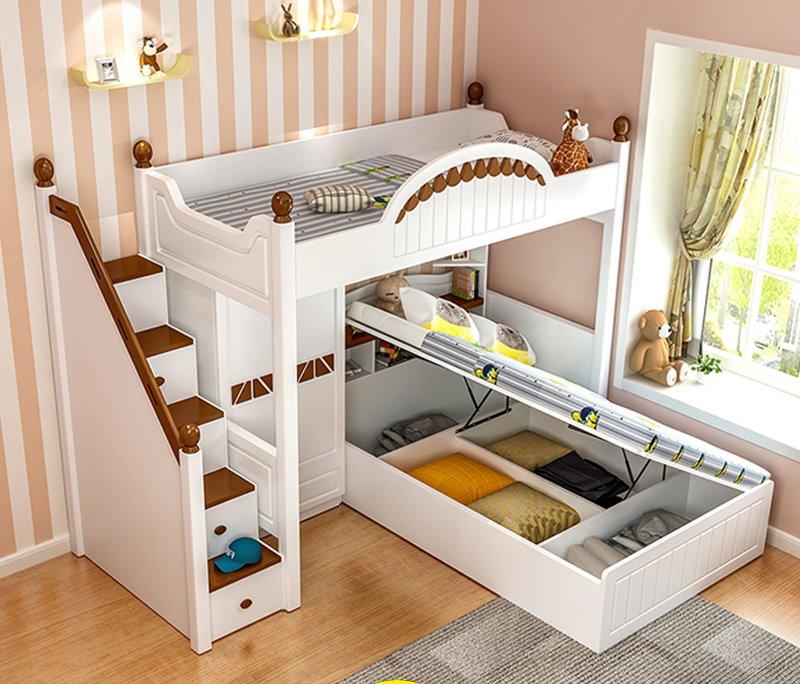 Giường tầng thông minh kết hợp tủ quần áo + bàn học GTE070 3