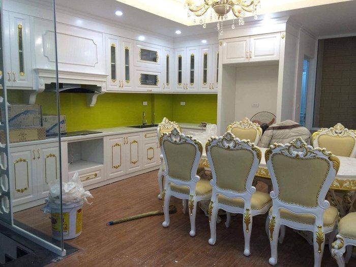 Phòng ăn tân cổ điển xưởng thạch thất Hà Nội