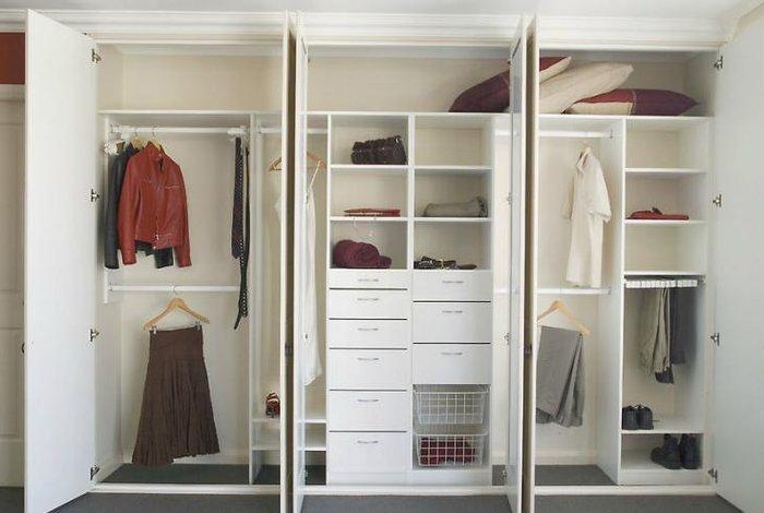Mẫu tủ quần áo âm tường đẹp