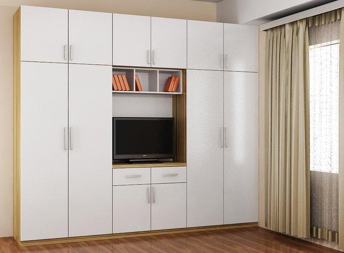 Tủ quần áo kết hợp với kệ tivi