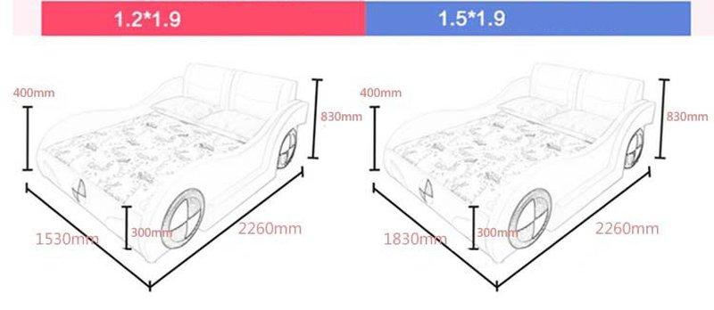 Kích cỡ phủ bì giường ô tô trẻ em bọc da kiểu hoạt hình GTE089