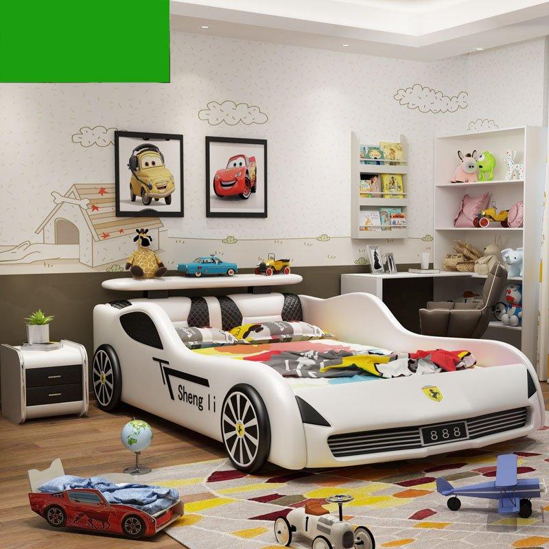 Giường ô tô xe đua cho bé trai GTE091 màu trắng