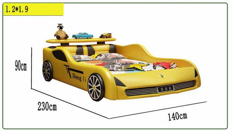 Kích thước 1m2 x 1m9 Giường ô tô xe đua cho bé trai GTE091