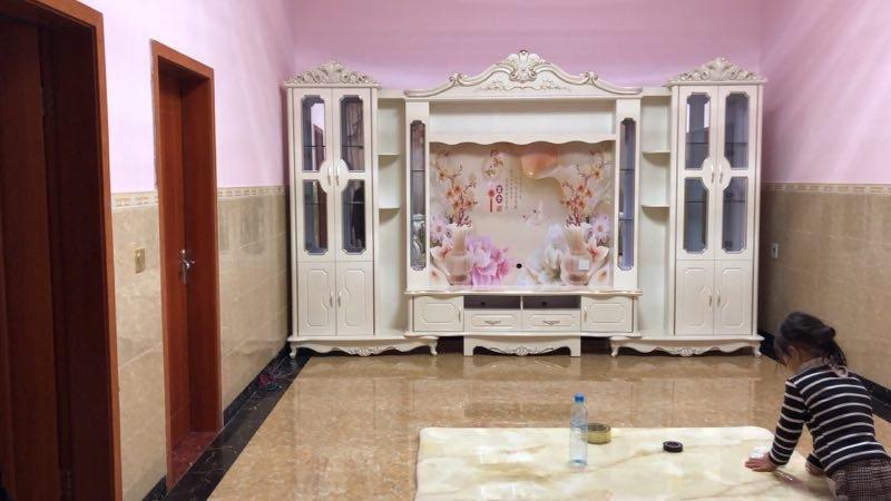 Bộ kệ tivi + tủ rượu phòng khách tân cổ điển châu âu TR003 5