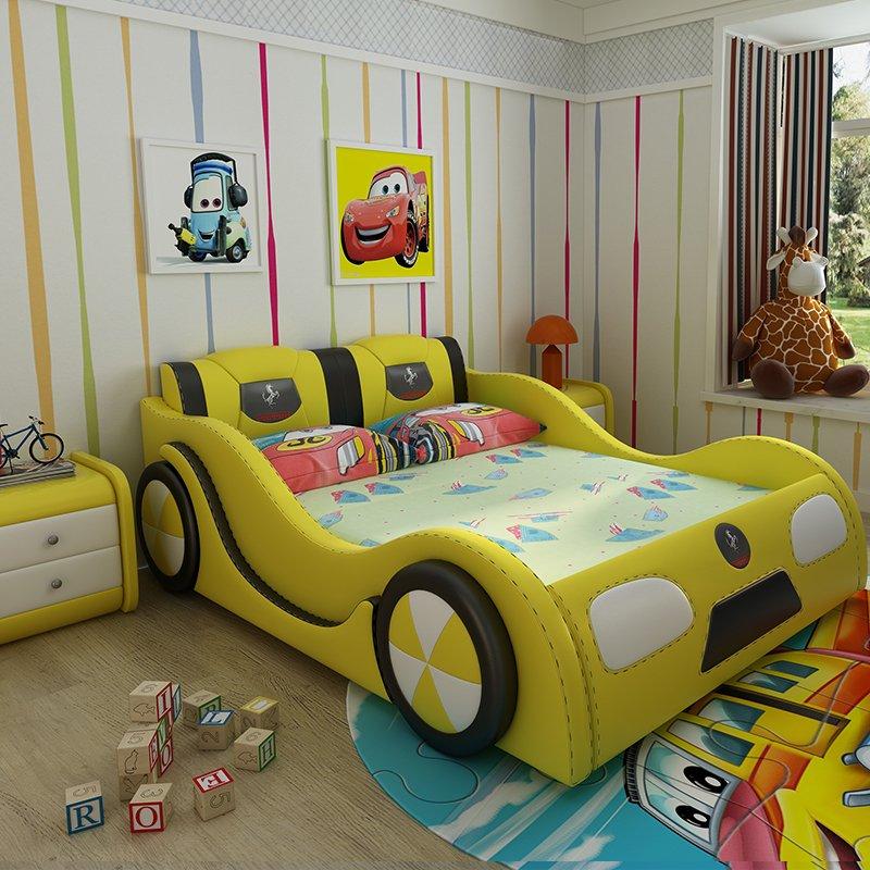 Giường ô tô trẻ em đẹp mua nhiều GTE101 màu vàng
