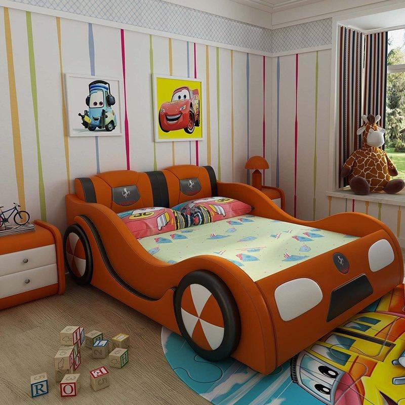 Giường ô tô trẻ em đẹp mua nhiều GTE101 màu cam