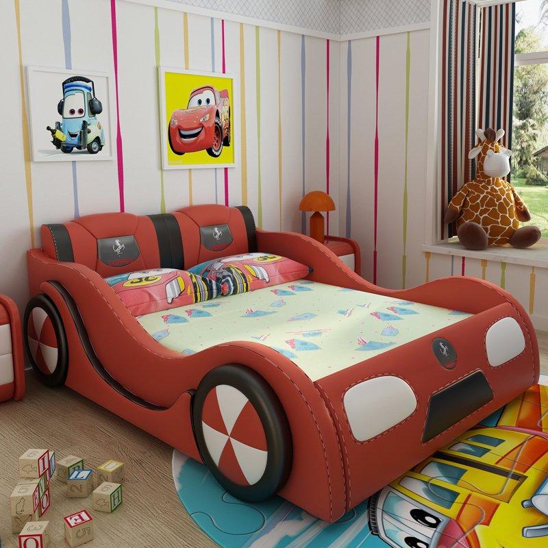 Giường ô tô trẻ em đẹp mua nhiều GTE101 màu đỏ