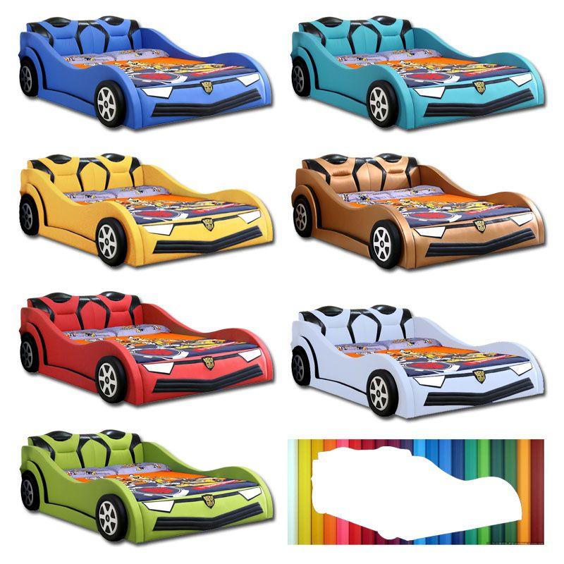 Màu sắc Giường trẻ em kiểu dáng ô tô hoạt hình BATMAN GTE095