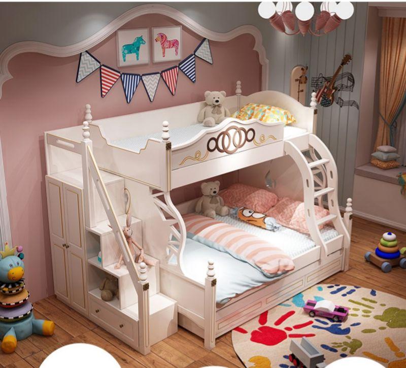 Giường tầng thông minh màu trắng GTE085