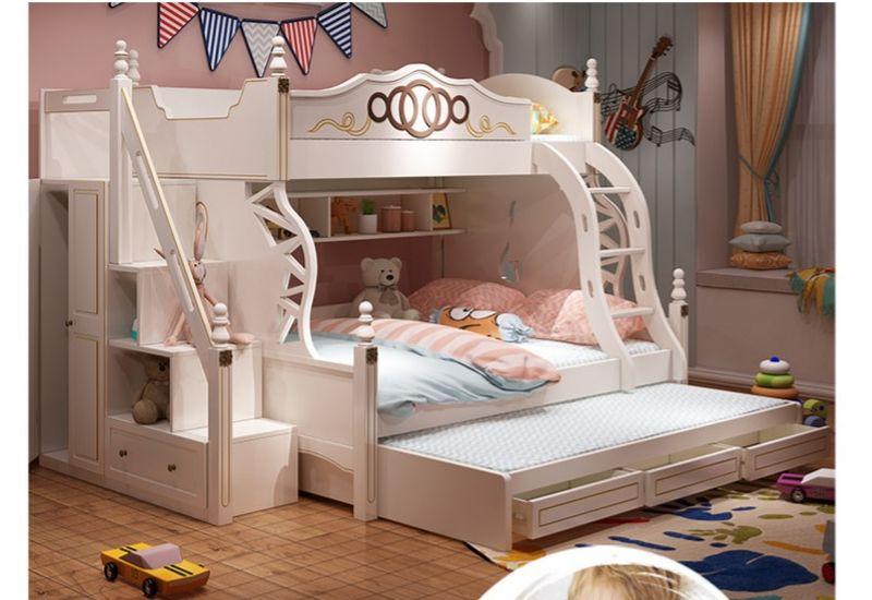 Giường tầng thông minh màu trắng GTE085 23