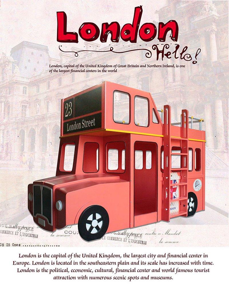 Giường tầng trẻ em kiểu dáng xe bus London GTE102 4