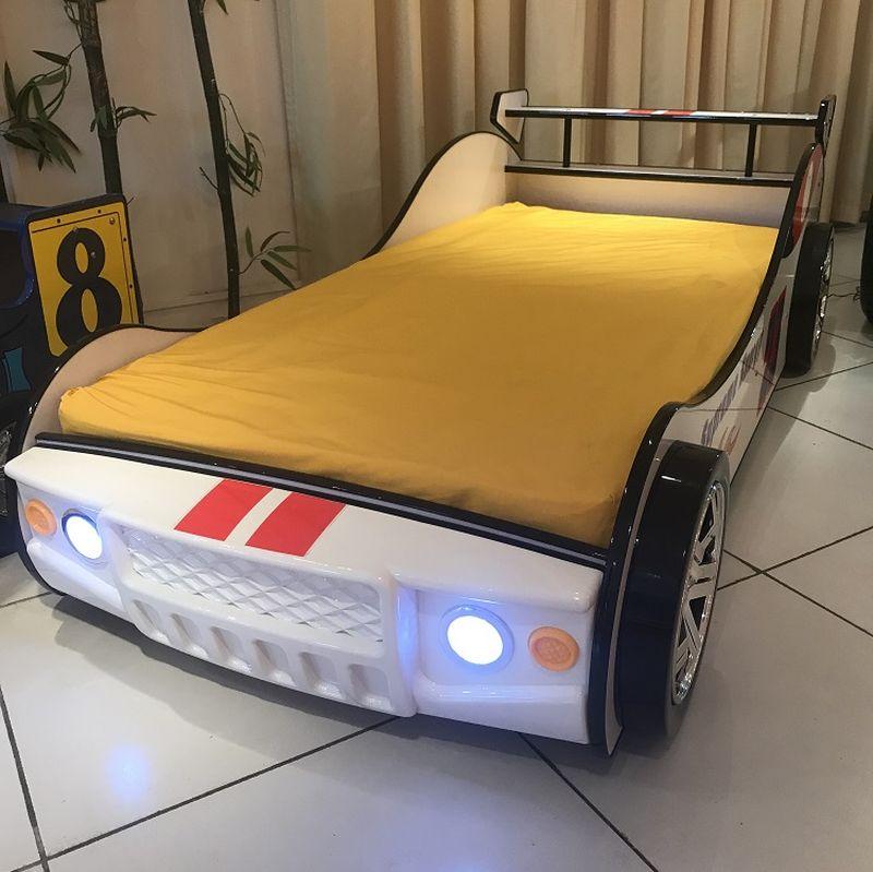 Giường xe đua F1 - nhập khẩu GTE099 màu trắng 2