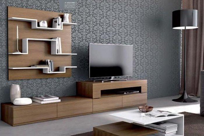 Kệ tivi có thiết kế hiện đại sang trong - chất gỗ MDF, HDF công nghiệp