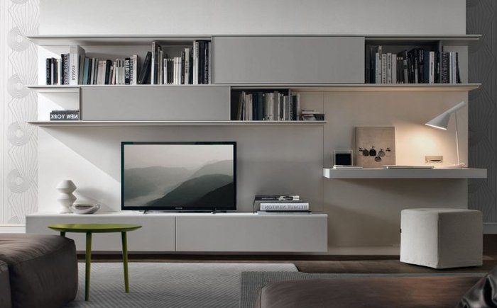 Mẫu thiết kế kệ tủ tivi phòng khách hiện đại