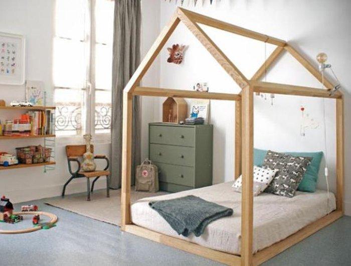 Mẫu giường ngôi nhà sáng tạo cho bé trai và bé gái