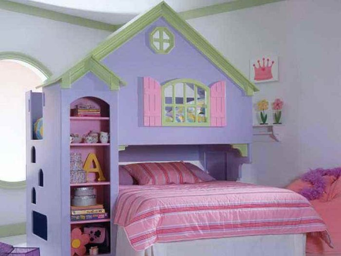 Giường cho bé kiểu dáng thiết kế hình lâu đài cát