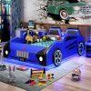 Giường ô tô hoạt hình trẻ em GTE115 màu xanh