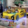 Giường ô tô hoạt hình trẻ em GTE115 màu vàng