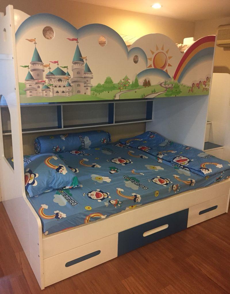 Giường tầng trẻ em hình kiểu dáng cầu vồng tuổi thơ GTE108 3