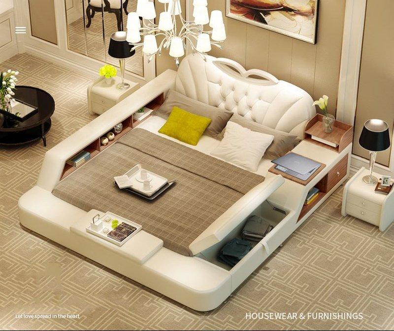 Giường tatami bọc da sang trọng GN012